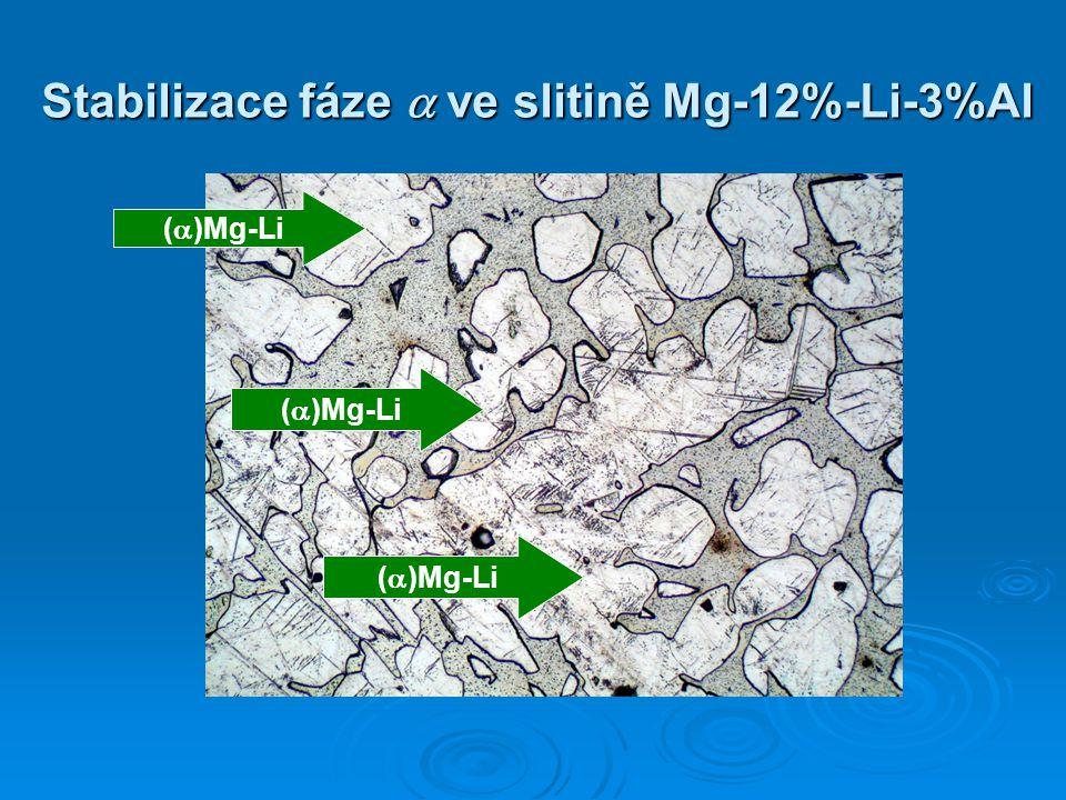 (  )Mg-Li Stabilizace fáze  ve slitině Mg-12%-Li-3%Al