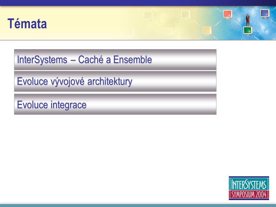 Témata InterSystems – Caché a Ensemble Evoluce vývojové architektury Evoluce integrace