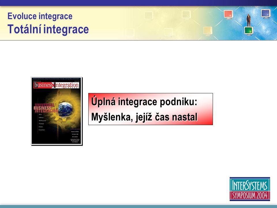 Evoluce integrace Totální integrace Úplná integrace podniku: Myšlenka, jejíž čas nastal