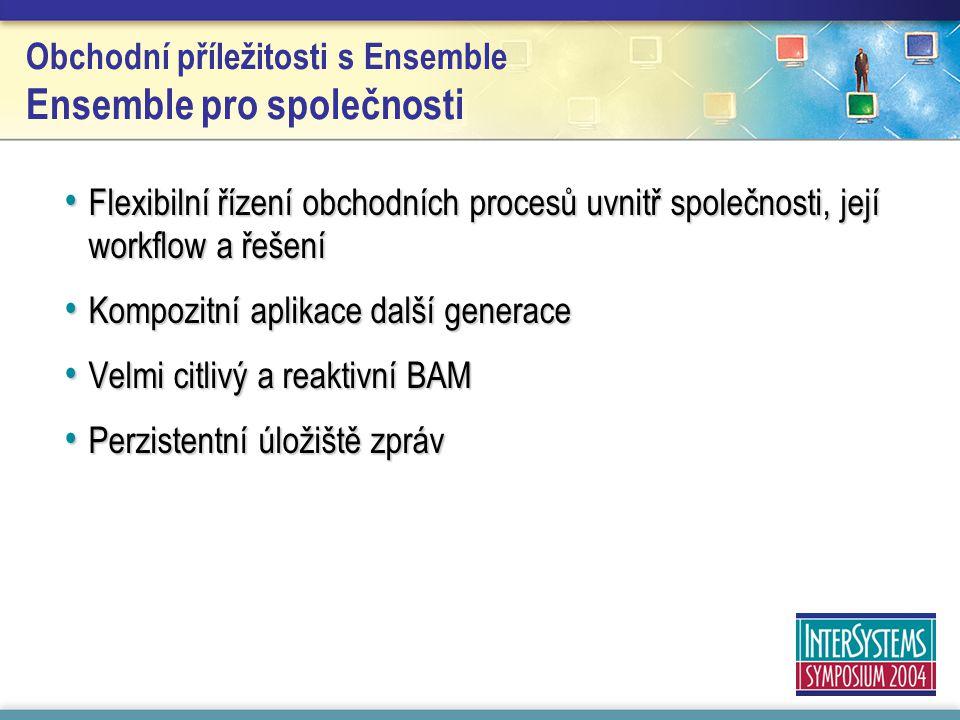 Obchodní příležitosti s Ensemble Ensemble pro společnosti Flexibilní řízení obchodních procesů uvnitř společnosti, její workflow a řešení Flexibilní ř