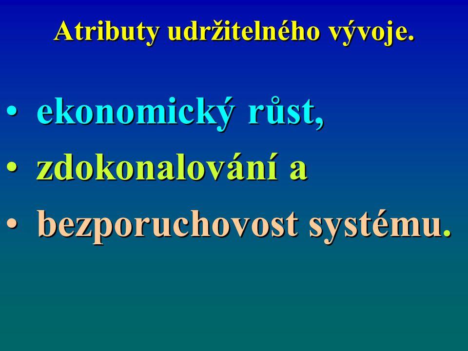 Atributy udržitelného vývoje.ekonomický růst, zdokonalování a bezporuchovost systému.