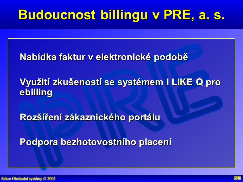 Budoucnost billingu v PRE, a. s.