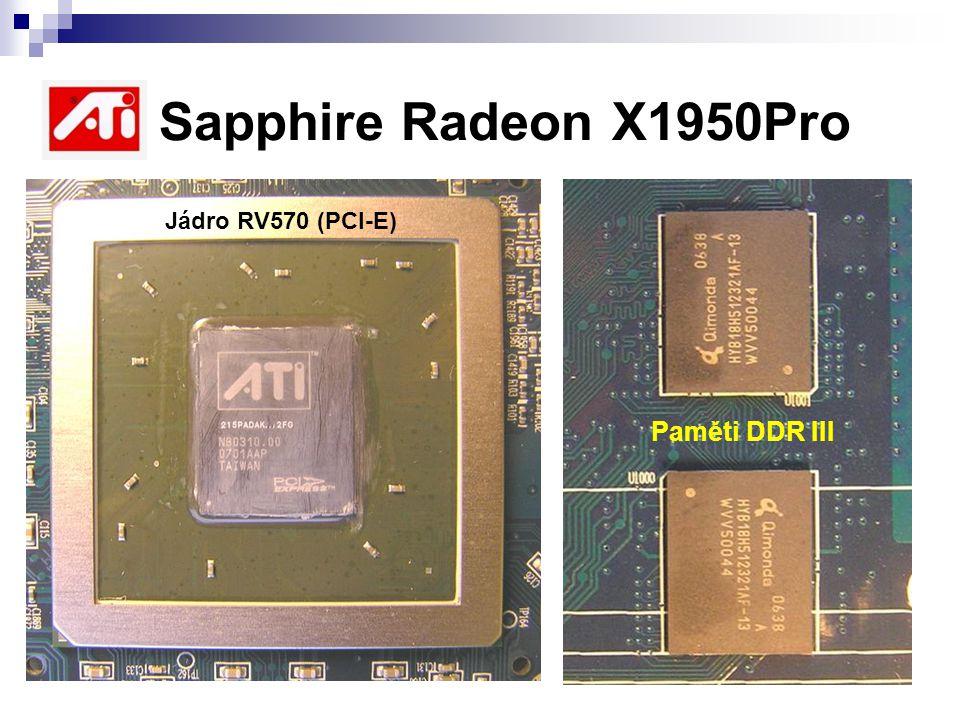 ATI Sapphire Radeon X1950Pro Jádro RV570 (PCI-E) Paměti DDR III