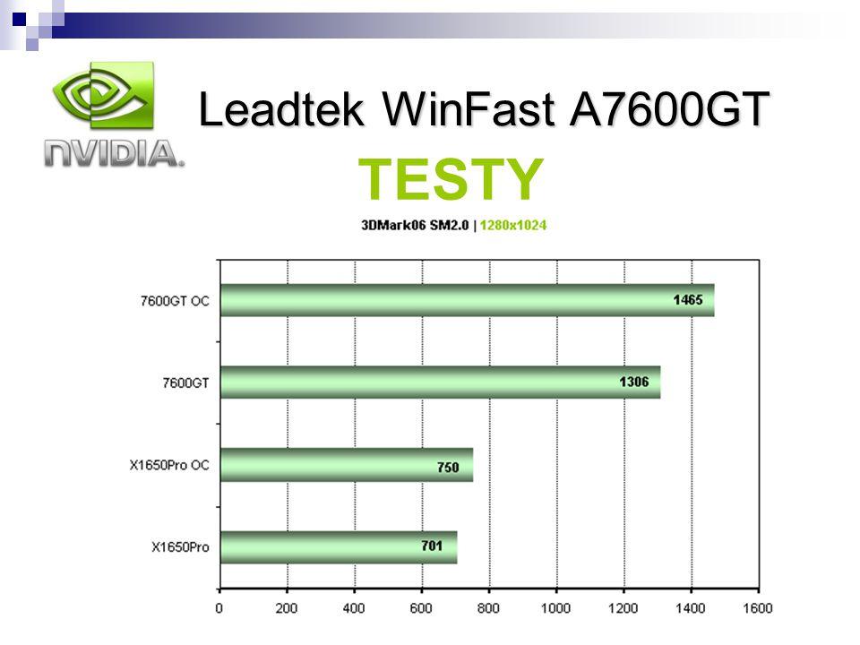 Leadtek WinFast A7600GT nVidia Leadtek WinFast A7600GT TESTY