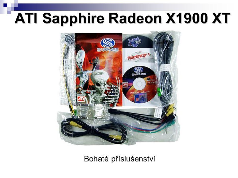 ATI Sapphire Radeon X1900 XT Bohaté příslušenství