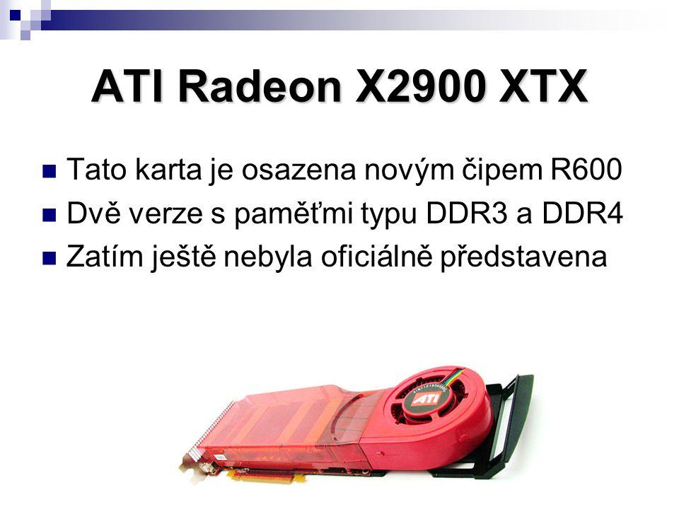 Tato karta je osazena novým čipem R600 Dvě verze s paměťmi typu DDR3 a DDR4 Zatím ještě nebyla oficiálně představena
