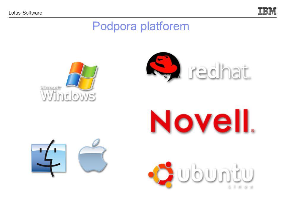 Lotus Software Podpora platforem