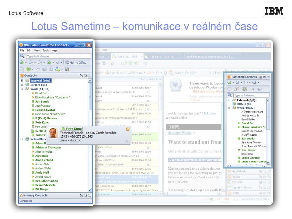 Lotus Software Lotus Sametime – komunikace v reálném čase