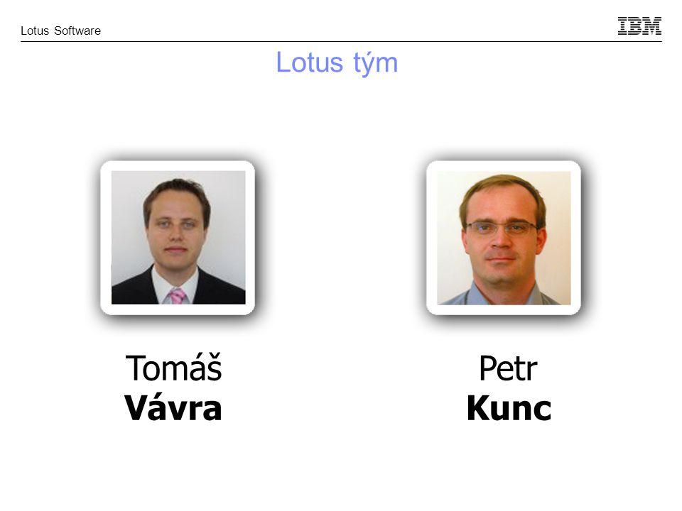 Lotus Software Tomáš Vávra Lotus tým Petr Kunc