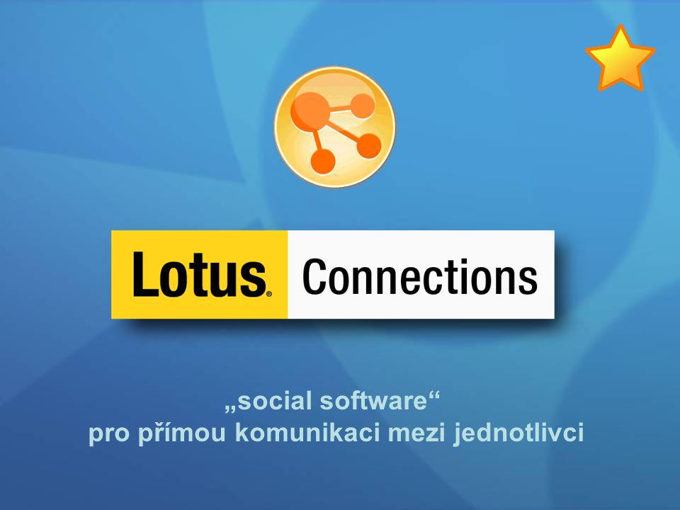 """""""social software"""" pro přímou komunikaci mezi jednotlivci"""