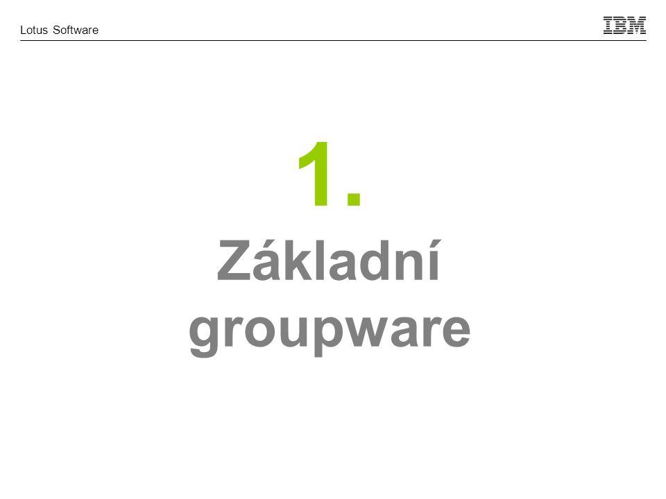 Lotus Software 1. Základní groupware