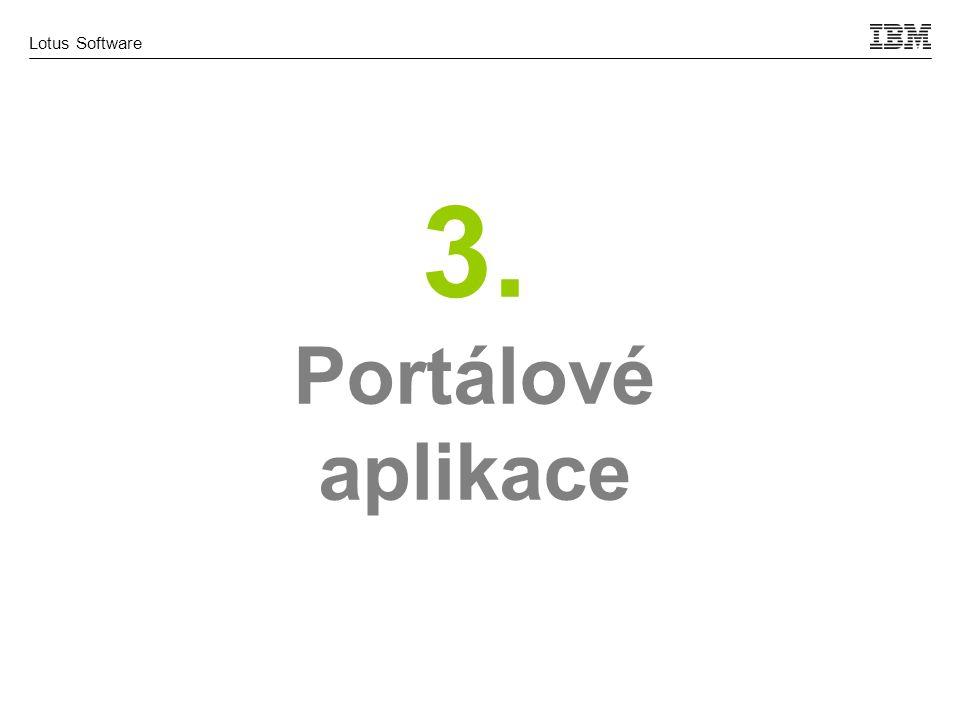 Lotus Software 3. Portálové aplikace