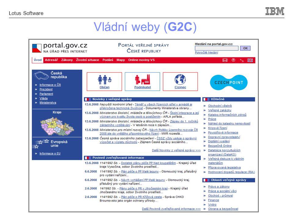 Lotus Software Vládní weby (G2C)