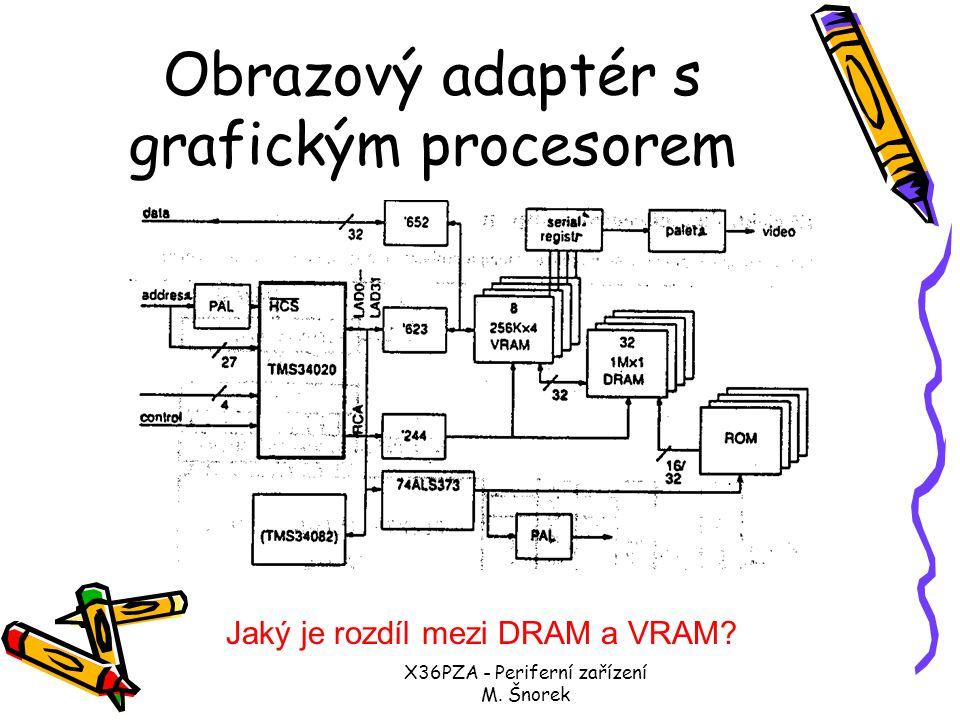 X36PZA - Periferní zařízení M. Šnorek R displej s GP a pamětí D- souboru