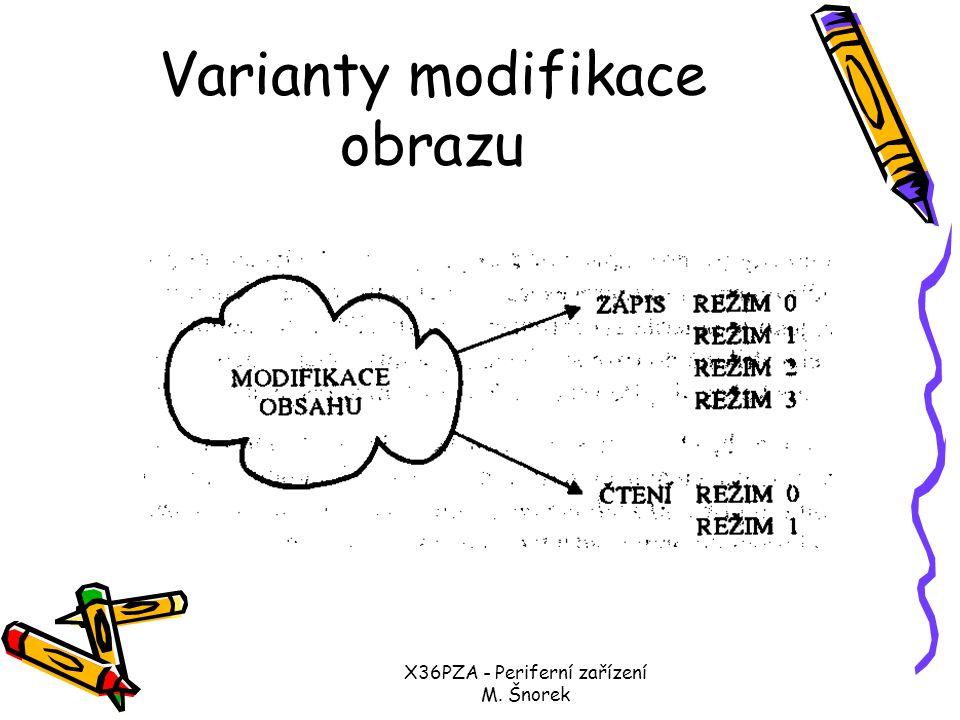X36PZA - Periferní zařízení M. Šnorek VGA HW pro obnovování obrazu