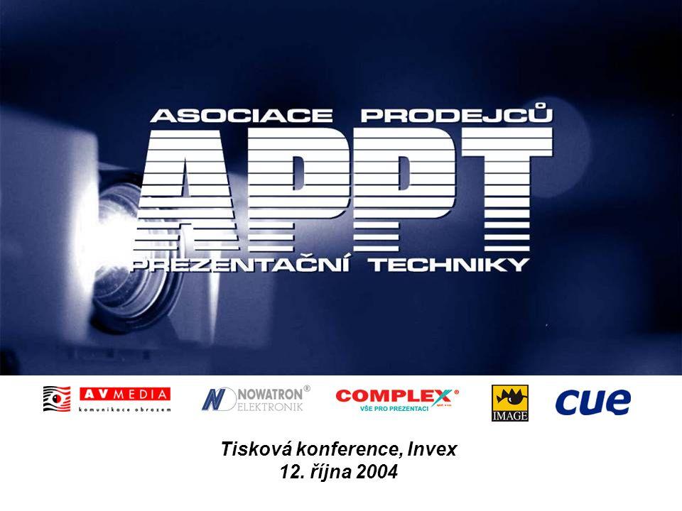 2 APPT na Invexu Nové trendy ve využití prezentační techniky Tisková konference Asociace prodejců prezentační techniky Brno, 12.