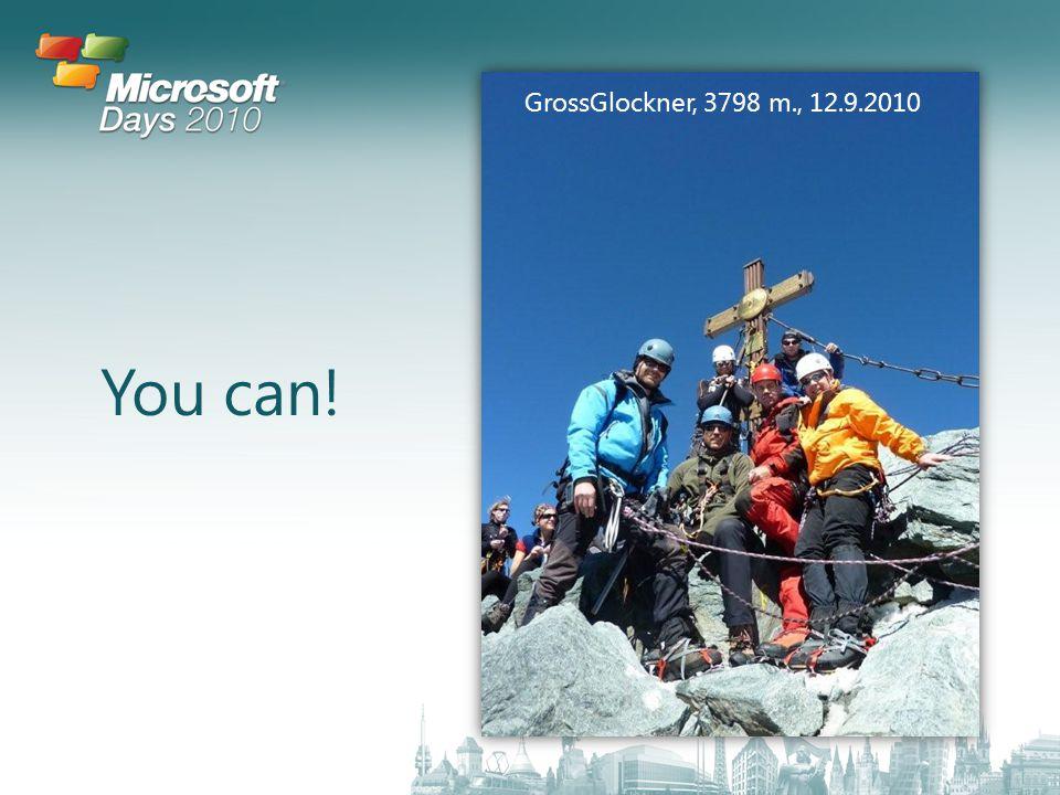 You can! GrossGlockner, 3798 m., 12.9.2010