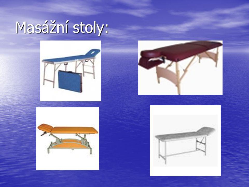 Masážní stoly: