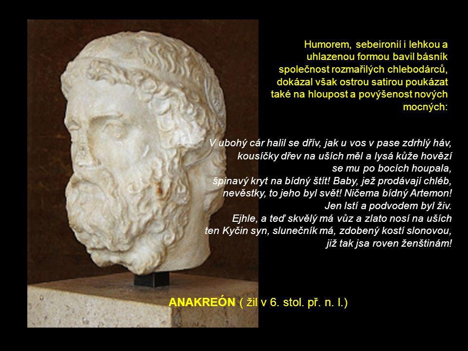 ANAKREÓN ( žil v 6. stol. př. n.