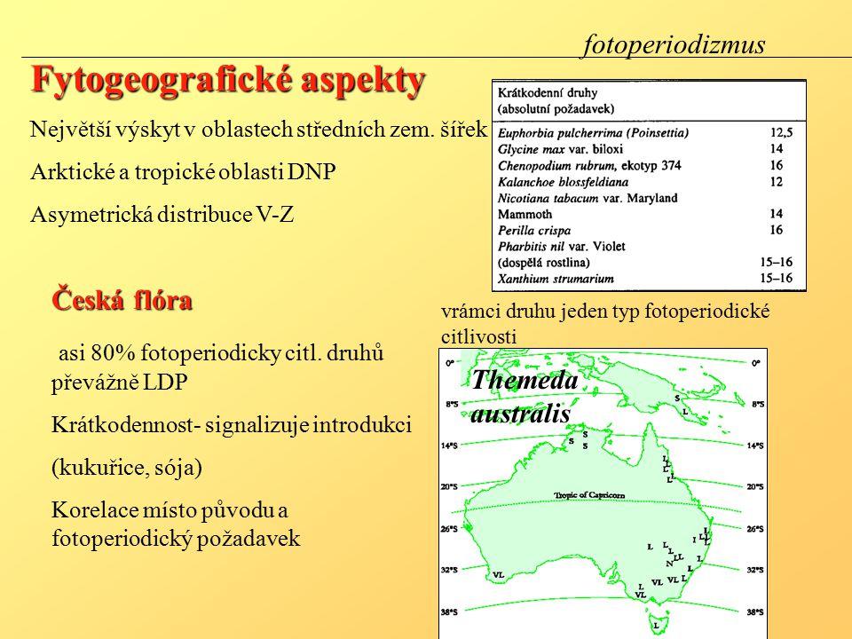 Fytogeografické aspekty Největší výskyt v oblastech středních zem.