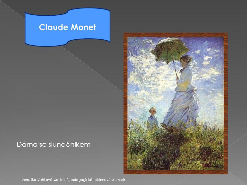 """ 1885-1905  Paul Cézanne = """"otec tohoto směru  Emocionalita projevu Prudké, vířivé tahy štětce Hustá, pastózní barva Nelomené barvy a exprese Veronika Vaňková, Socialně pedagogické asistenství, I.semestr Postimpresionismus"""