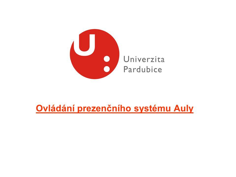 Ovládání prezenčního systému Auly