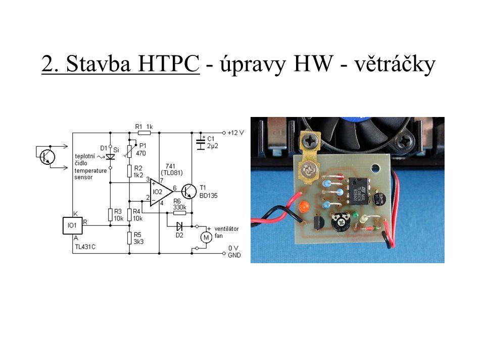 2. Stavba HTPC - úpravy HW - větráčky