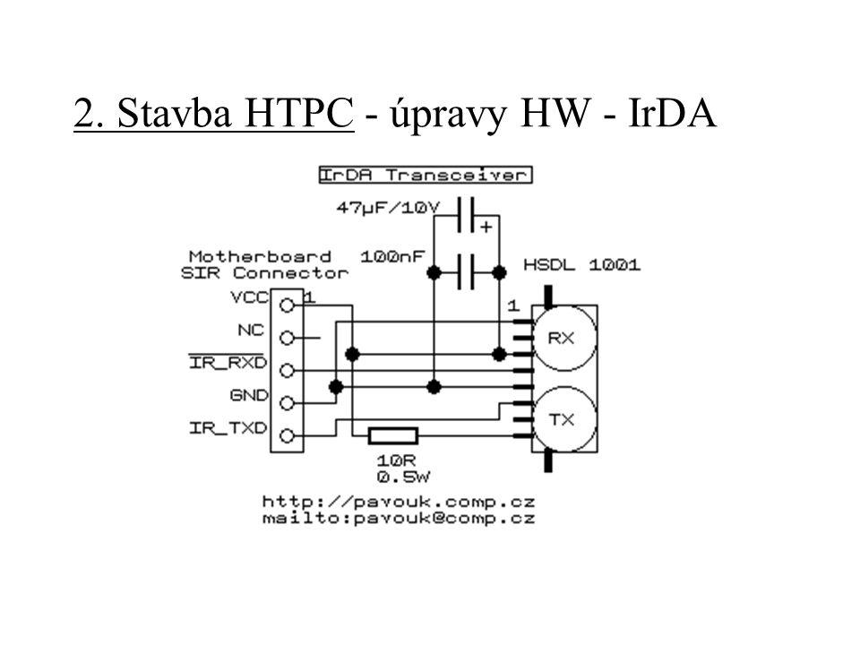 2. Stavba HTPC - úpravy HW - IrDA