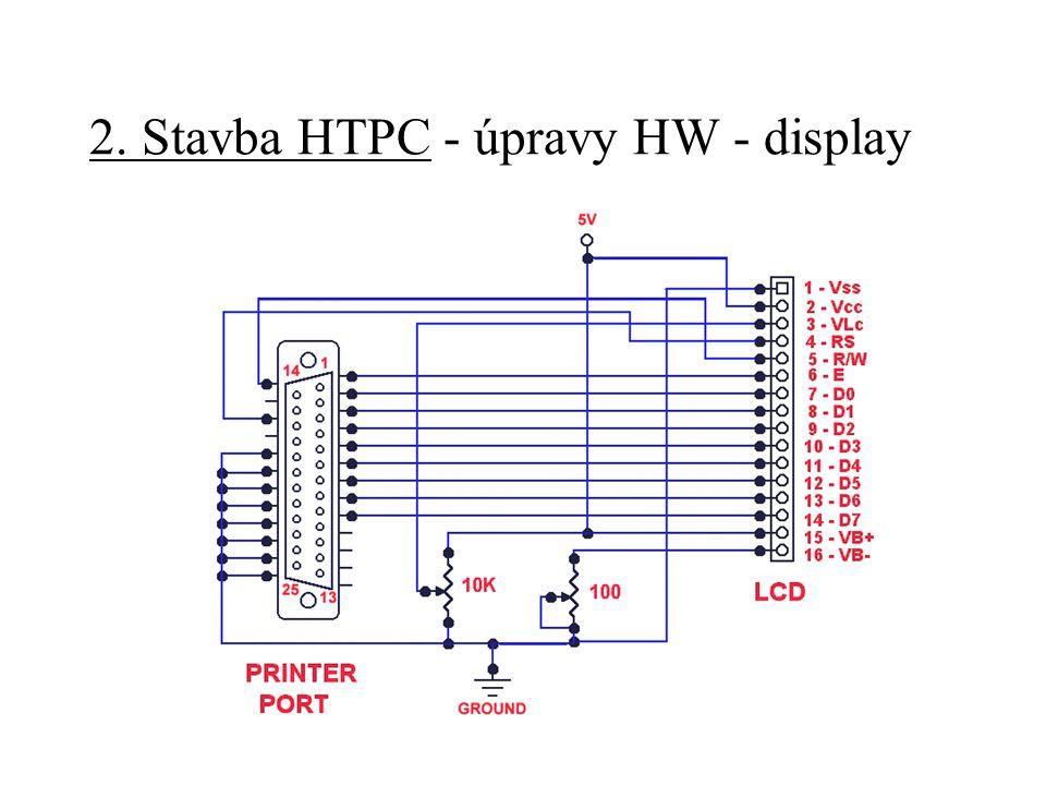 2. Stavba HTPC - úpravy HW - display