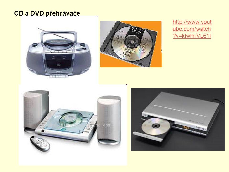 CD a DVD přehrávače http://www.yout ube.com/watch ?v=klwlhrVL61I