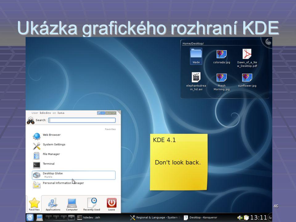 Ukázka grafického rozhraní KDE 46