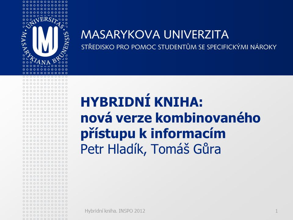 Hybridní kniha.