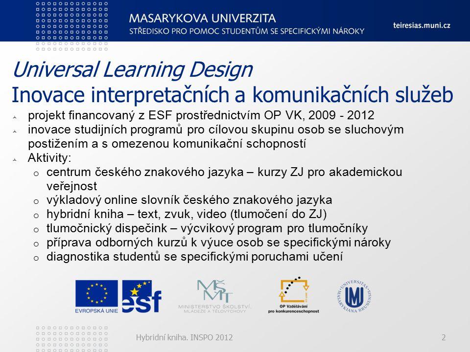 Hybridní kniha.INSPO 20123 Hybridní kniha 2002 – 2012 2002: I.