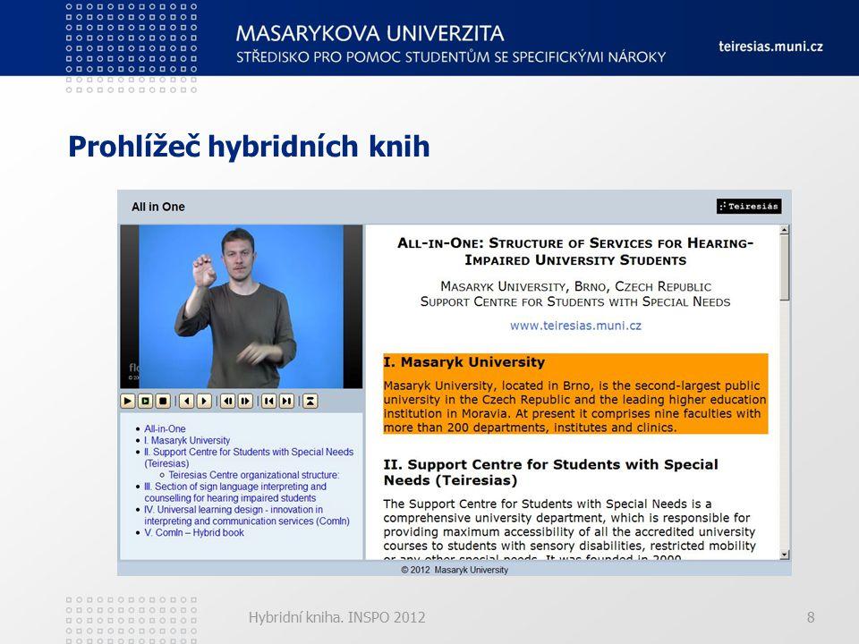 Hybridní kniha. INSPO 20128 Prohlížeč hybridních knih