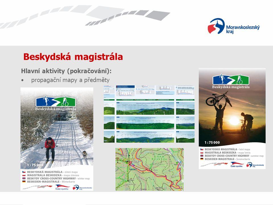 Beskydská magistrála Hlavní aktivity (pokračování): propagační mapy a předměty