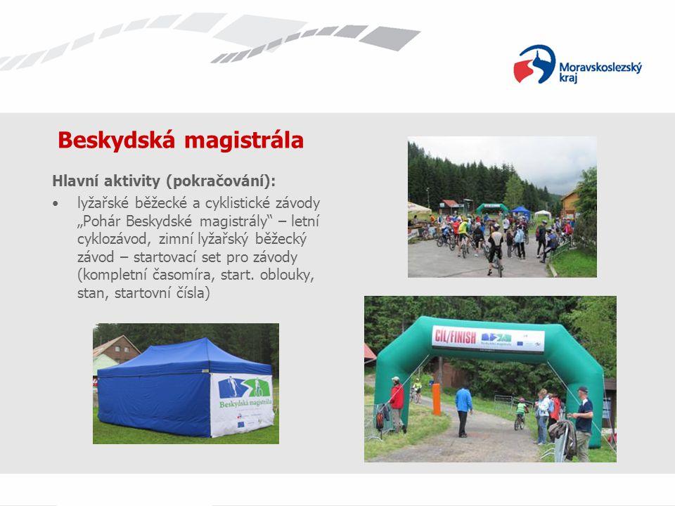 """Beskydská magistrála Hlavní aktivity (pokračování): lyžařské běžecké a cyklistické závody """"Pohár Beskydské magistrály"""" – letní cyklozávod, zimní lyžař"""