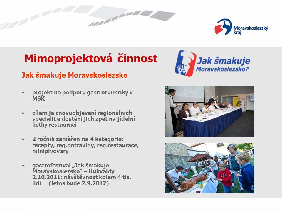 Mimoprojektová činnost Jak šmakuje Moravskoslezsko projekt na podporu gastroturistiky v MSK cílem je znovuobjevení regionálních specialit a dostání ji