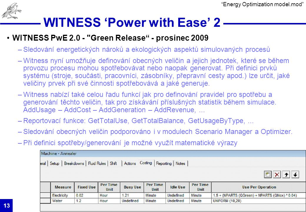 HUMUSOFT s.r.o. 13 WITNESS 'Power with Ease' 2 WITNESS PwE 2.0 -