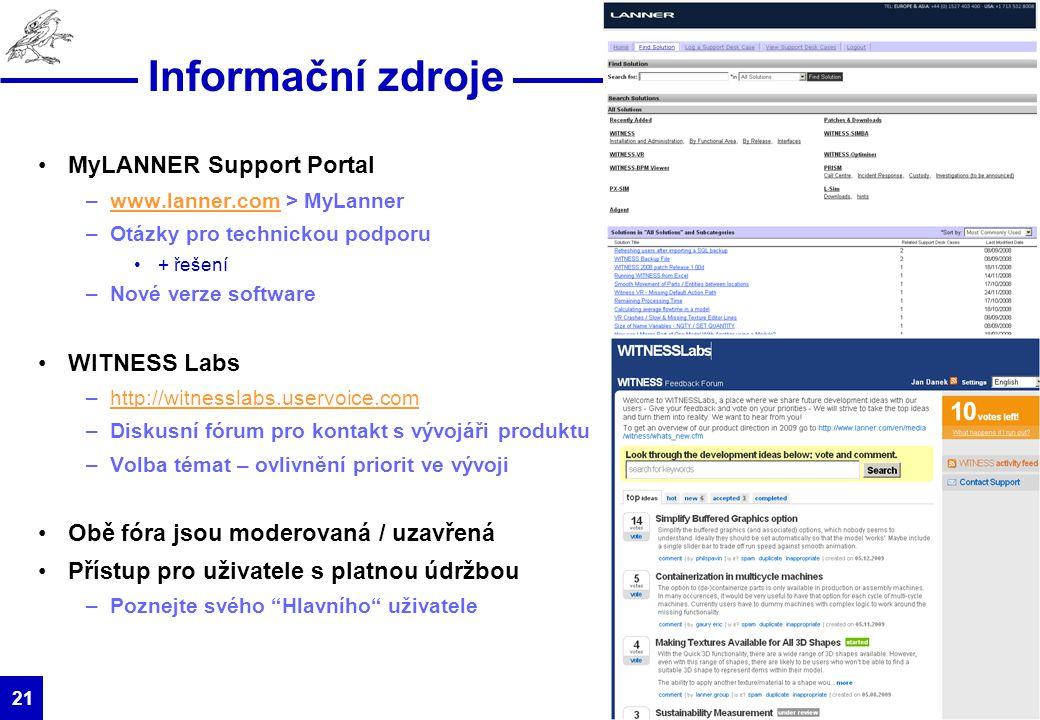 HUMUSOFT s.r.o. 21 Informační zdroje MyLANNER Support Portal –www.lanner.com > MyLannerwww.lanner.com –Otázky pro technickou podporu + řešení –Nové ve