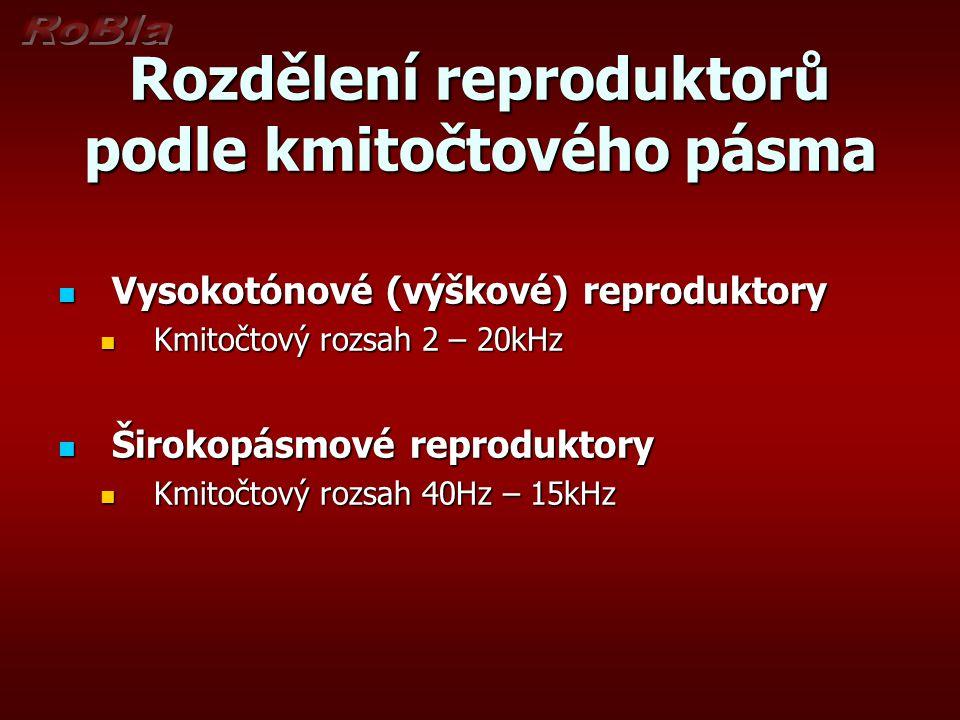 Otázky k opakování 1.Z jakých částí se skládá reproduktor.