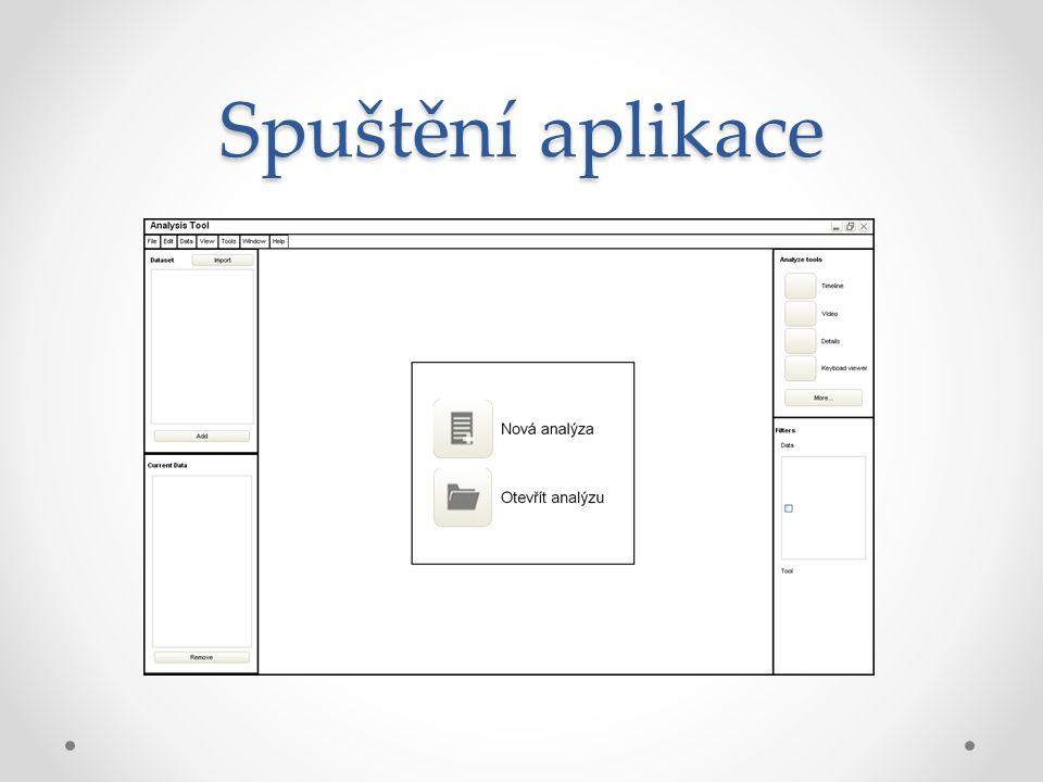 Spuštění aplikace
