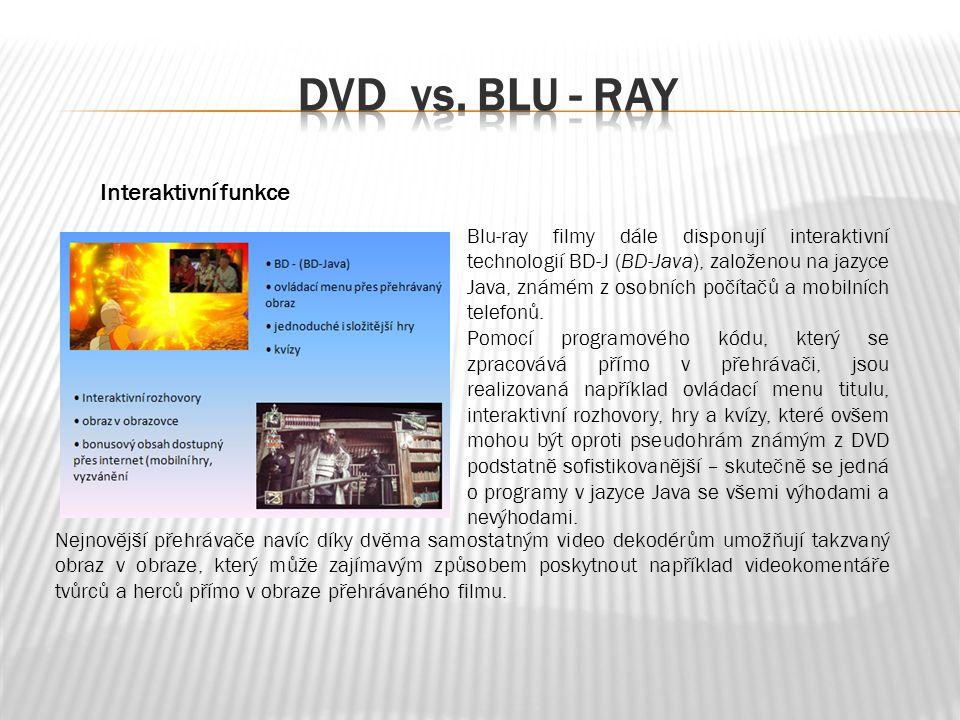Blu-ray filmy dále disponují interaktivní technologií BD-J (BD-Java), založenou na jazyce Java, známém z osobních počítačů a mobilních telefonů.