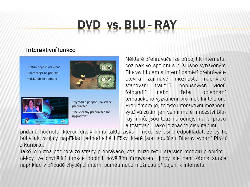 Některé přehrávače lze připojit k internetu, což pak ve spojení s příslušně vybaveným Blu-ray titulem a interní pamětí přehrávače otevírá zajímavé možnosti, například stahování trailerů, bonusových videí, fotografií nebo třeba objednání tématického vyzvánění pro mobilní telefon.
