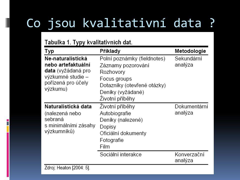 Co jsou kvalitativní data ?