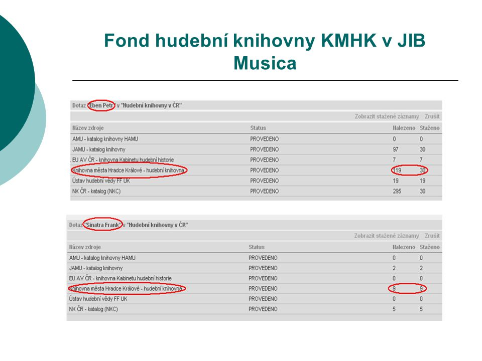 Fond hudební knihovny KMHK v JIB Musica