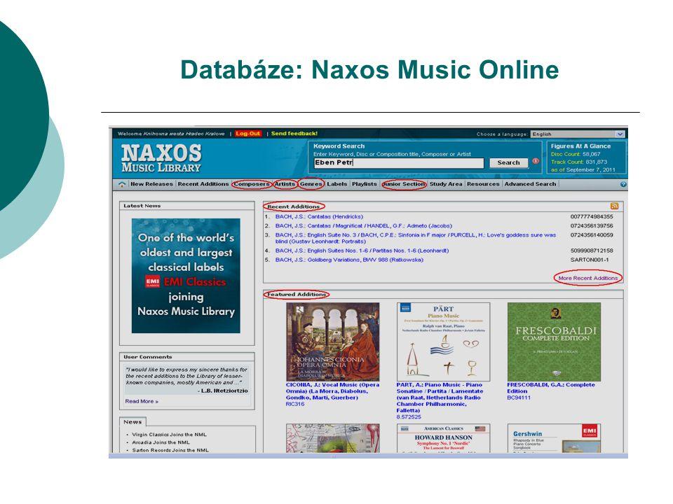 Databáze: Naxos Music Online