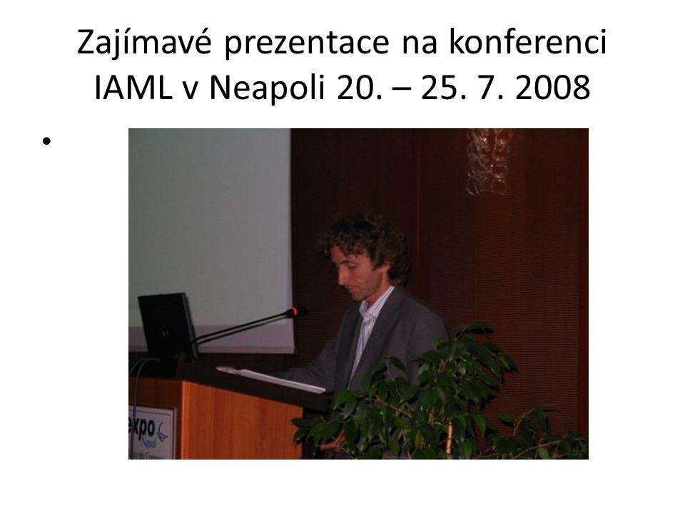 Zajímavé prezentace Fonoteca Nationale Svizzera, Lugano www.fonoteca.ch On-line přístup jen ve Švýcarsku Není možno stahovat, ale lze poslouchat Všechny vědecké švýcarské instituce mají přístup zdarma Je zdigitalizováno a zpřístupněno 42000 historických nahrávek