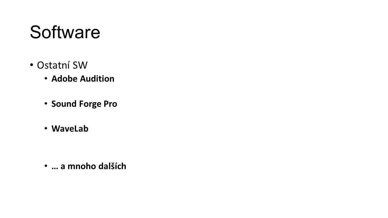 Software Ostatní SW Adobe Audition Sound Forge Pro WaveLab … a mnoho dalších