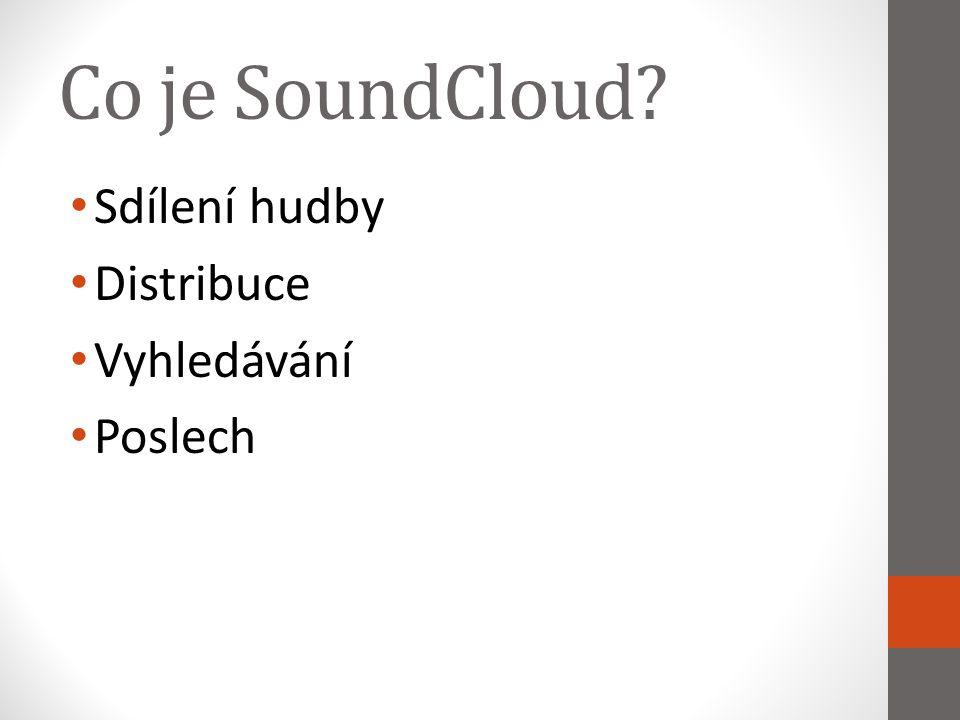 Co je SoundCloud? Sdílení hudby Distribuce Vyhledávání Poslech