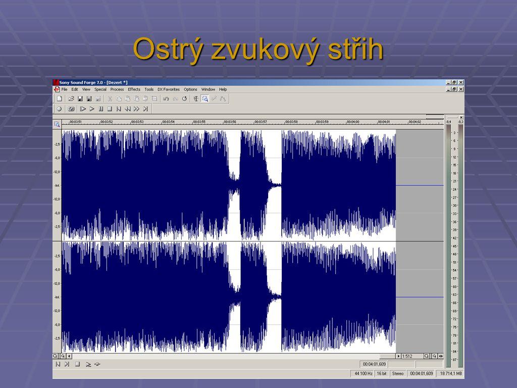 Ostrý zvukový střih